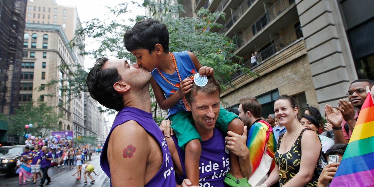 Manhattan transforms into Pride Island